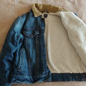 Kids Gap sherpa lined denim jackets